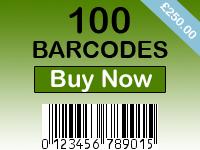 Buy 100 Barcodes