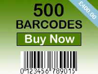 Buy 500 Barcodes