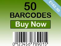 Buy 50 Barcodes
