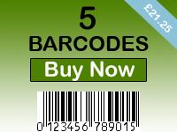 Buy 5 Barcodes